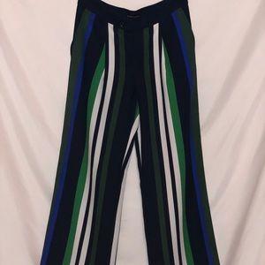 Banana Republic bold stripe wide leg pants